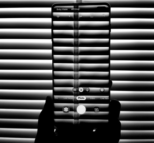 Cell phone in dark
